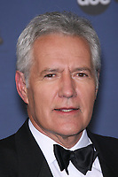 "08 November 2020 - Longtime ""Jeopardy!"" host Alex Trebek, died on Sunday at the age of 80 following a battle with pancreatic cancer. File Photo: 28 April 2005 - Hollywood, California - Alex Trebek, winner of Outstanding Game Show Host for ""Jeopardy!"".  The 33rd Annual Daytime Emmy Awards - Press Room held at the Kodak Theatre. Photo Credit: Zach Lipp/AdMedia"