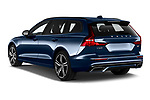 Car pictures of rear three quarter view of 2021 Volvo V60 R-Design 5 Door Wagon Angular Rear