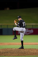 AZL White Sox relief pitcher Salvador Villarreal (77) delivers a pitch to the plate against the AZL Cubs on August 13, 2017 at Sloan Park in Mesa, Arizona. AZL White Sox defeated the AZL Cubs 7-4. (Zachary Lucy/Four Seam Images)