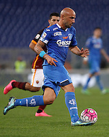 Calcio, Serie A: Roma vs Empoli. Roma, stadio Olimpico, 17 ottobre 2017.<br /> Empoli's Massimo Maccarone during the Italian Serie A football match between Roma and Empoli at Rome's Olympic stadium, 17 October 2015.<br /> UPDATE IMAGES PRESS/Isabella Bonotto