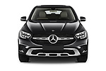 Car photography straight front view of a 2020 Mercedes Benz GLC-Coupe - 5 Door SUV Front View