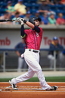 Pensacola Blue Wahoos outfielder Jesse Winker (23) at bat during the first game of a double header against the Biloxi Shuckers on April 26, 2015 at Pensacola Bayfront Stadium in Pensacola, Florida.  Biloxi defeated Pensacola 2-1.  (Mike Janes/Four Seam Images)