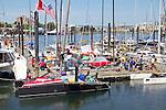 Race to Alaska, human powered, wind powered, all class, boat race, Port Townsend to Ketchikan, second leg, racers prepare at dock, Inner Harbor, Victoria, British Columbia, for Ketchikan, Alaska,