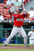July 28, 2009:  Chris Carter of the Pawtucket Red Sox during a game at Coca-Cola Field in Buffalo, NY.  Pawtucket is the International League Triple-A affiliate of the Boston Red Sox.  Photo By Mike Janes/Four Seam Images