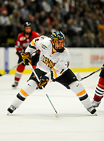 14 November 2008: University of Vermont Catamount forward Brian Roloff, a Junior from West Seneca, NY, in action against the Northeastern University Huskies at Gutterson Fieldhouse in Burlington, Vermont. The Catamounts fell to the Huskies 5-3...Mandatory Photo Credit: Ed Wolfstein Photo