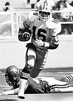 Matt Dunigan Edmonton Eskimos quarterback 1985. Photo Mike Ridewood