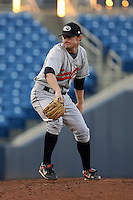 June 11th 2008:  Pitcher Brett Bordes of the Delmarva Shorebirds, Class-A affiliate of the Baltimore Orioles, during a game at Classic Park in Eastlake, OH.  Photo by:  Mike Janes/Four Seam Images