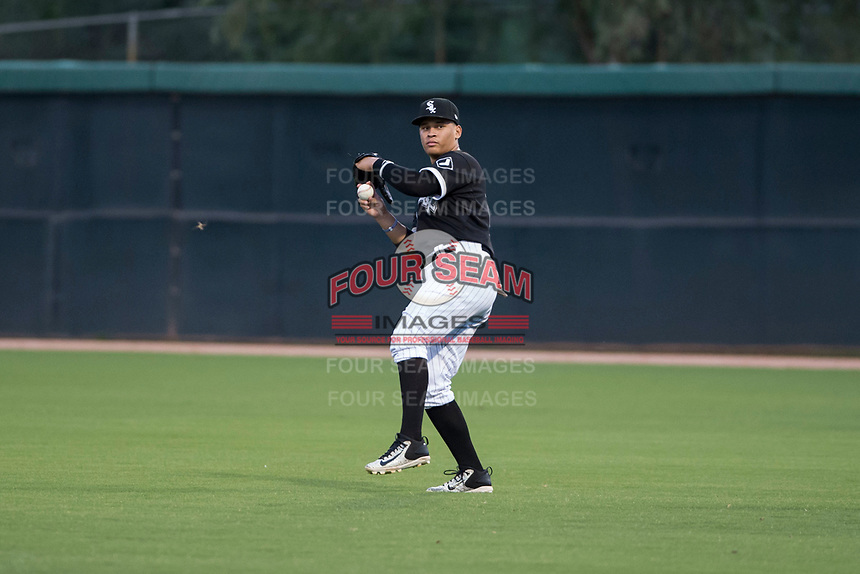 AZL White Sox right fielder Anthony Coronado (13) during an Arizona League game against the AZL Diamondbacks at Camelback Ranch on July 12, 2018 in Glendale, Arizona. The AZL Diamondbacks defeated the AZL White Sox 5-1. (Zachary Lucy/Four Seam Images)