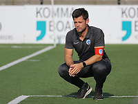 Genk's head coach looking dejected and disappointed after KVM's second goal during soccer game between Yellow Red KV Mechelen Women and KRC Genk during Belgian Women's National Division 1 match  on day 2 of 2021-2022 season, on Saturday 4th of September  2021 in Mechelen , Belgium . PHOTO SEVIL OKTEM | SPORTPIX