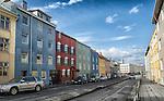 Colourful buildings in downtown Reykjavik