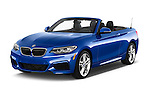 2015 BMW 2 Series 228i 2 Door Convertible Angular Front stock photos of front three quarter view