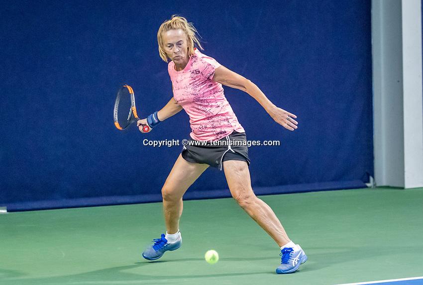 Hilversum, The Netherlands,  August 17, 2021,  Tulip Tennis Center, NKS, National Senior Tennis Championships,  Brigitte Keijzer (NED)<br /> Photo: Tennisimages/Henk Koster