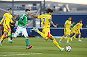 Romania's Paul Papp in action during the UEFA EURO 2016 qualifying Group F soccer match between Northern Ireland and Romania at Windsor Park in Belfast, Northern Ireland, 13 June 2015.  EPA/PauL McErlane