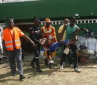 Jeux de la Francophonie Abidjan 2017 / Compétitions Sportives Football - Finale Côte d'Ivoire Maroc / Bousculade au stade Félix Houphouét Boigny - Abidjan, 30 juillet 2017 # BOUSCULADE LORS DE LA FINALE DE FOOTBALL DES JEUX DE LA FRANCOPHONIE