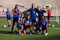 Pasadena, CA - August 2, 2019:  The USWNT trains in preparation for an international friendly against Ireland at the Rose Bowl.