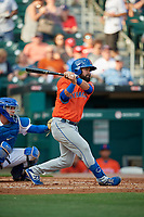 Syracuse Mets Luis Guillorme (13) at bat during an International League game against the Buffalo Bisons on June 29, 2019 at Sahlen Field in Buffalo, New York.  Buffalo defeated Syracuse 9-3.  (Mike Janes/Four Seam Images)