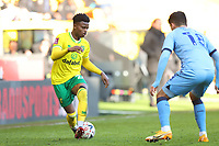 9th January 2021; Carrow Road, Norwich, Norfolk, England, English FA Cup Football, Norwich versus Coventry City; Bali Mumba of Norwich City takes on Ryan Giles of Coventry City