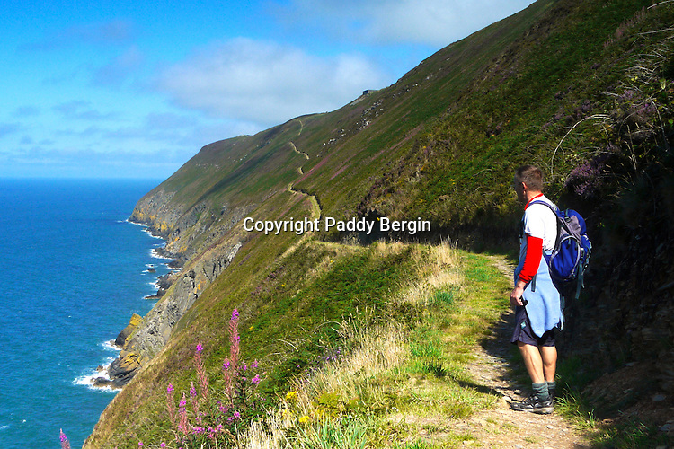 Walking the Ceredigion Coastal Path<br /> <br /> Stock Photo by Paddy Bergin