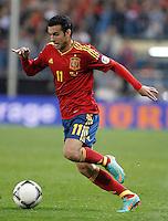 Spain's national team Pedro Rodriguez during match. October 16, 2012. (ALTERPHOTOS/Alvaro Hernandez) /NORTEPhoto