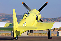 Hawker Sea Fury Furias waits on the ramp during the 2011 Reno National Championship Air Races