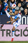 Claudio Beauvue of CD Leganes in action during the Copa del Rey 2017-18 match between CD Leganes and Real Madrid at Estadio Municipal Butarque on 18 January 2018 in Leganes, Spain. Photo by Diego Gonzalez / Power Sport Images