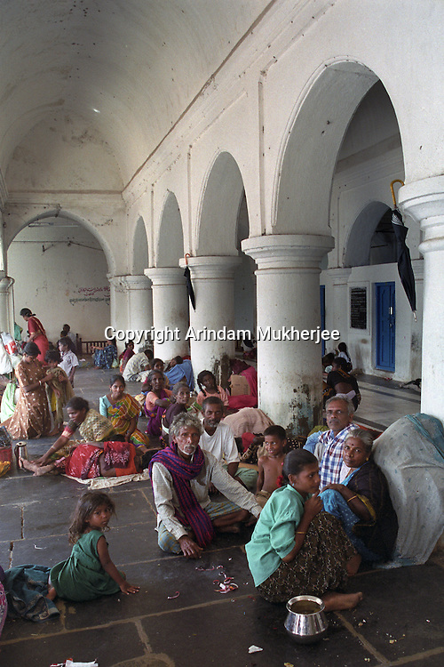 Displaced and homeless in a shelter at Nagapattinam.India.