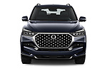 Car photography straight front view of a 2021 Ssangyong Rexton Sapphire 5 Door SUV Front View