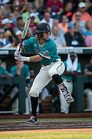 Zach Remillard #7 of the Coastal Carolina Chanticleers bats during a College World Series Finals game between the Coastal Carolina Chanticleers and Arizona Wildcats at TD Ameritrade Park on June 27, 2016 in Omaha, Nebraska. (Brace Hemmelgarn/Four Seam Images)