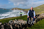 Rory Brosnan and Colm Bambury who started Slea Head Virtual Tours pictured along the route in Dún Chaoin.