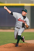 Starting pitcher Bobby Blevins #40 of the Great Lakes Loons warms-up in the bullpen at Fifth Third Field April 22, 2009 in Dayton, Ohio. (Photo by Brian Westerholt / Four Seam Images)