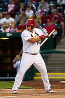 Matthew Adams (25) of the Springfield Cardinals at bat during a game against the Frisco RoughRiders on April 14, 2011 at Hammons Field in Springfield, Missouri.  Photo By David Welker/Four Seam Images.