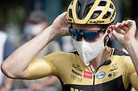Wout van Aert (BEL/Jumbo - Visma) at the race start in Clermont-Ferrand<br /> <br /> Stage 1: Clermont-Ferrand to Saint-Christo-en-Jarez (218km)<br /> 72st Critérium du Dauphiné 2020 (2.UWT)<br /> <br /> ©kramon