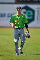 Ryan Hinchley (17) of the Great Falls Voyagers before the game against the Ogden Raptors in Pioneer League action at Lindquist Field on August 16, 2016 in Ogden, Utah. Ogden defeated Great Falls 2-1. (Stephen Smith/Four Seam Images)