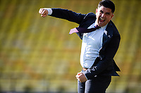 24th April 2021; Vicarage Road, Watford, Hertfordshire, England; English Football League Championship Football, Watford versus Millwall; Xisco Munoz celebrates at the final whistle. Watford are promoted to the Premier League.