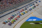 Monster Energy NASCAR Cup Series<br /> GEICO 500<br /> Talladega Superspeedway, Talladega, AL USA<br /> Sunday 7 May 2017<br /> Denny Hamlin, Joe Gibbs Racing, FedEx Express Toyota Camry and Martin Truex Jr, Furniture Row Racing, Bass Pro Shops/TRACKER BOATS Toyota Camry<br /> World Copyright: Nigel Kinrade<br /> LAT Images<br /> ref: Digital Image 17TAL1nk05995