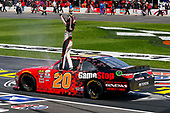 2017 NASCAR Xfinity Series<br /> My Bariatric Solutions 300<br /> Texas Motor Speedway, Fort Worth, TX USA<br /> Saturday 8 April 2017<br /> Erik Jones, Game Stop/ GAEMS Toyota Camry celebrates his win <br /> World Copyright: Russell LaBounty/LAT Images<br /> ref: Digital Image 17TEX1rl_2634