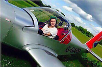 Pictured: Harry Styles from One Direction in the microlight owned by Nick Jefferies, taken from open social media page.<br />