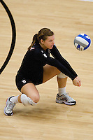STANFORD, CA - DECEMBER 5:  Gabi Ailes of the Stanford Cardinal during Stanford's 3-0 win over Albany in the NCAA Division 1 Women's Volleyball first round on December 5, 2008 at Maples Pavilion in Stanford, California.