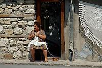 Bulgarien, Nesebar, Verkauf von Spitzen