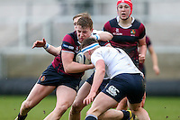Tuesday 28th February 2017 | ULSTER SCHOOLS CUP SEMI-FINAL<br /> <br /> Lewis Davidson during the Ulster Schools Cup Semi-Final between MCB and BRA at Kingspan Stadium, Ravenhill Park, Belfast, Northern Ireland. <br /> <br /> Photograph by John Dickson | www.dicksondigital.com
