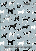 Kate, GIFT WRAPS, GESCHENKPAPIER, PAPEL DE REGALO, paintings+++++Black and white dogs 2,GBKM41,#gp#, EVERYDAY