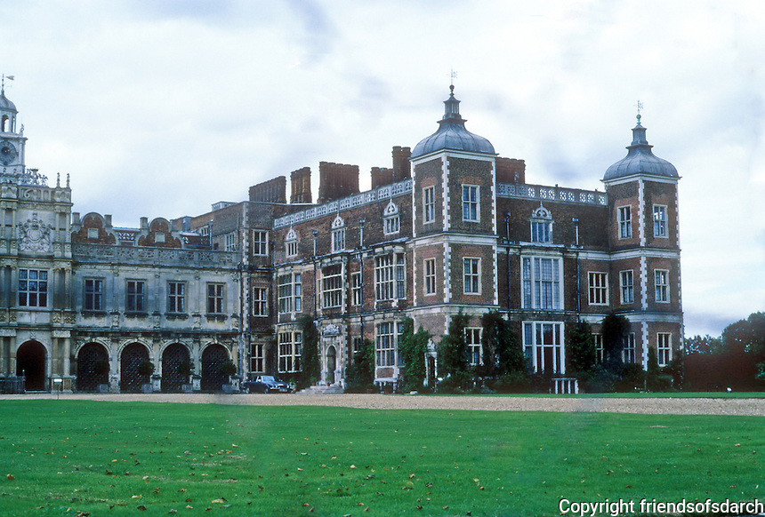 Hertfordshire: Hatfield House--East wing, South elevation. Photo '90.