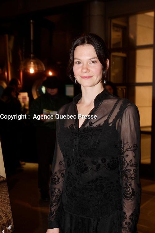 Montreal (Qc) CANADA, November 6, 2007-<br /> Fanny Mallette, actress,<br /> Continental - Un film sans fusil at Ex-Centris<br /> photo (c) Pierre Roussel -  Images Distribution