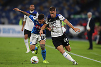 Giovanni Di Lorenzo of Napoli and Marco Pasalic of Atalanta compete for the ball<br /> Napoli 30-10-2019 Stadio San Paolo <br /> Football Serie A 2019/2020 <br /> SSC Napoli - Atalanta BC<br /> Photo Cesare Purini / Insidefoto