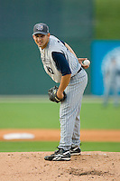 Starting pitcher Paolo Espino #10 of the Lake County Captains in action versus the Kannapolis Intimidators at Fieldcrest Cannon Stadium May 1, 2009 in Kannapolis, North Carolina. (Photo by Brian Westerholt / Four Seam Images)