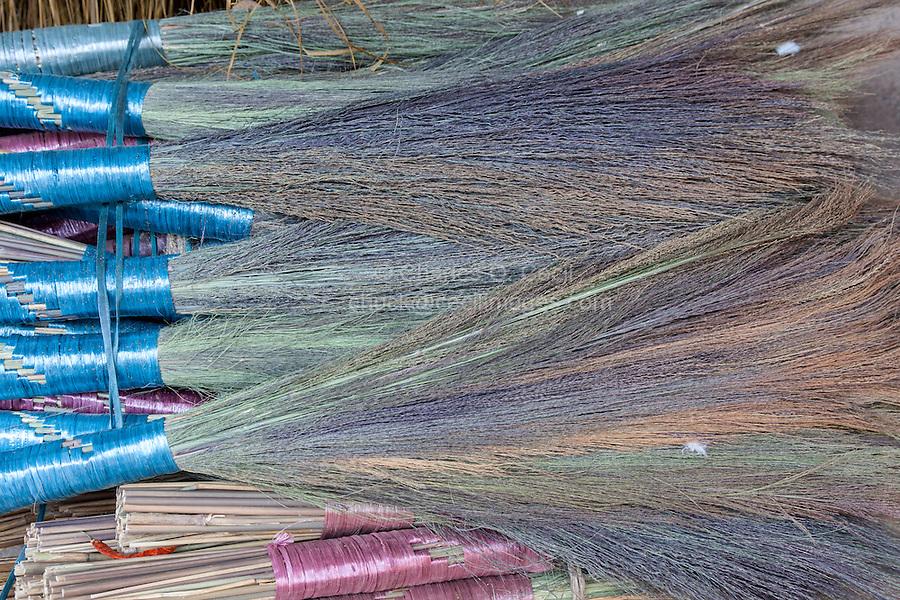 Nepal, Kathmandu.  Brooms for Sale.