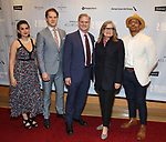 """Georgia Warner, Matthew Goodrich, Tony Carlin, Anne Lange and DeShawn Harold Mitchell attends the Broadway Opening Night After Party for """"All My Sons"""" at The American Airlines Theatre on April 22, 2019  in New York City."""