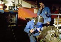 - workers in the metal and mechanics industry TECAS in Edolo (Sondrio)....- operai nell'industria metalmeccanica TECAS ad Edolo (Sondrio)