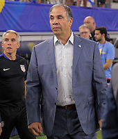 Arlington, TX - Saturday July 22, 2017: Bruce Arena during a 2017 Gold Cup Semifinal match between the men's national teams of the United States (USA) and Costa Rica (CRC) at AT&T stadium.
