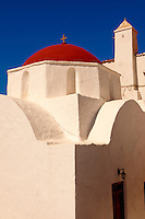 Greek Orthodox church of Agia Moni. Mykanos Chora, Cyclades Islands, Greece
